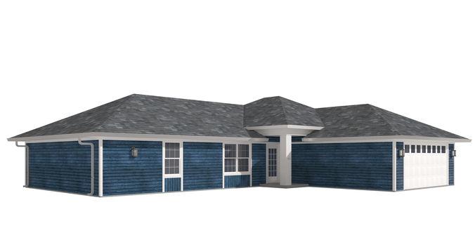 house-028 low poly 3d model max obj mtl 3ds fbx dwg 1