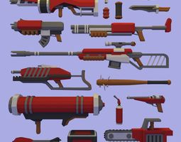 3D model FPS Weapons Pack
