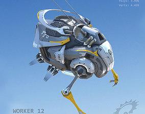 Worker12 3D model