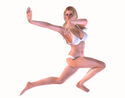 3D asset animated Female Character