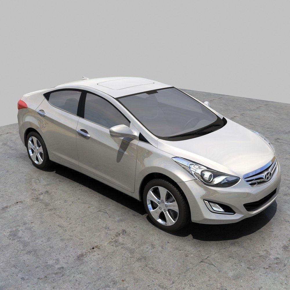 Hyundai Elantra 2012 Model >> Hyundai Elantra 2012 China 3d Cgtrader