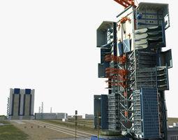 jiuquan satellite launch center 3d model