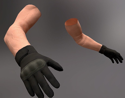 3D model Arms Low Poly