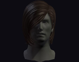 3D model realtime hair style 15