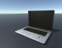 Laptop 3D model rigged
