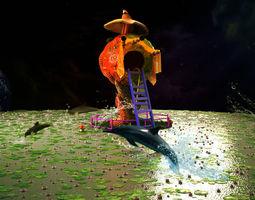 sci-fi 3D model fictional house