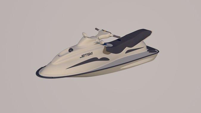 jet ski 3d model c4d 1