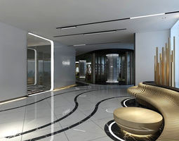 3D model Office reception area meeting room 28