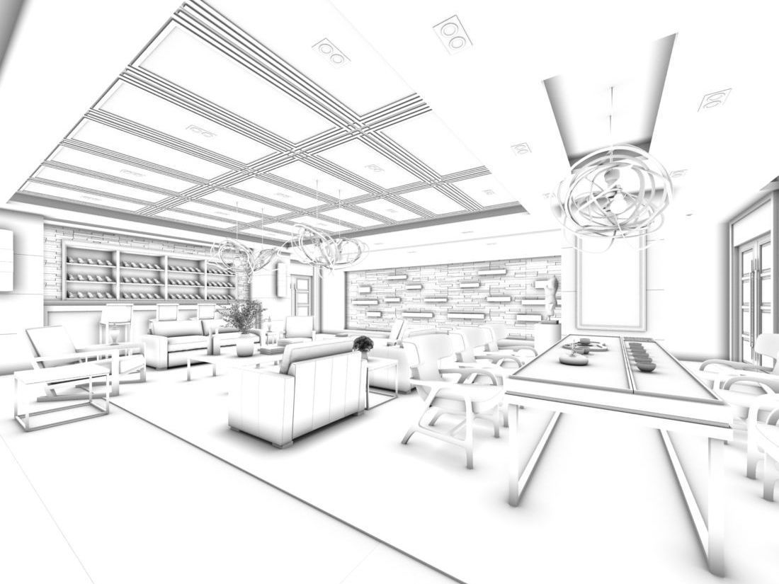 3d Office Reception Area Meeting Room 31 Cgtrader