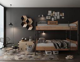 3D doubledeck Bunk bed