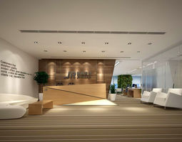 Office meeting room reception hall 12 3D