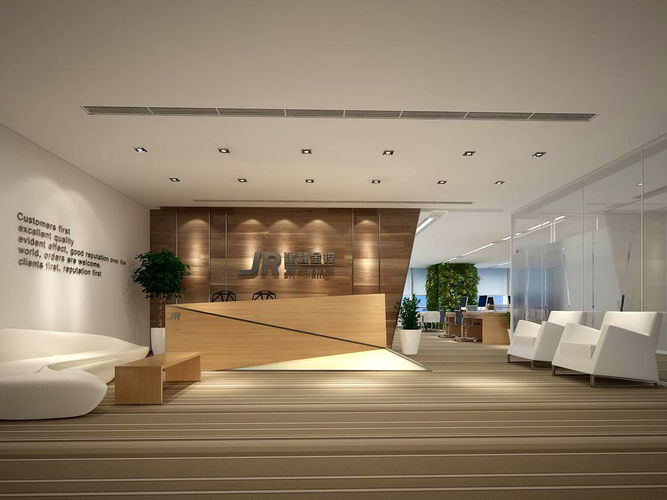 office meeting room reception hall 12 3d model max 1