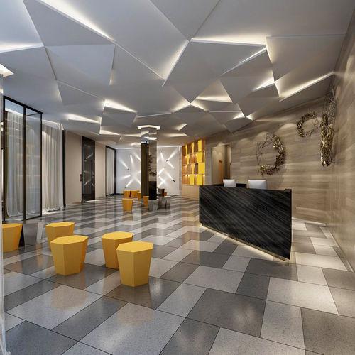 office meeting room reception hall 13 3d model max 1