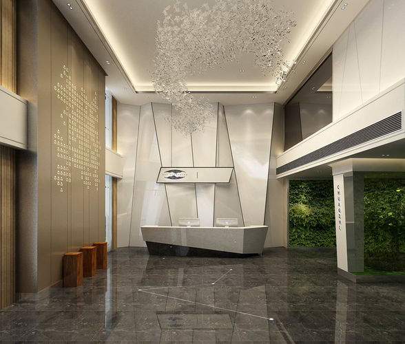 office meeting room reception hall 34 3d model max 1