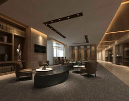 office reception hall design complete 11 3D