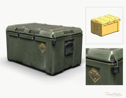 Military LOOT Weapon Case PBR 3D asset