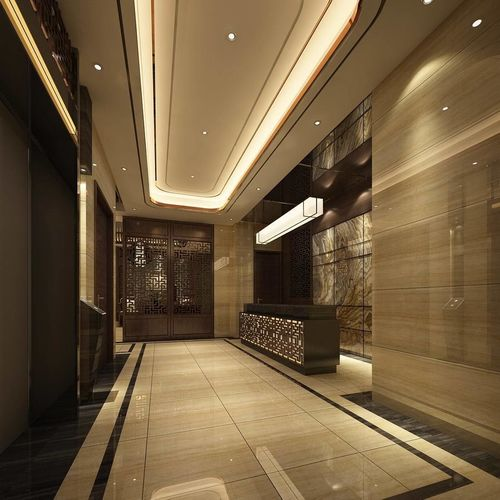 hotel reception hall design complete 01 3d model max 1