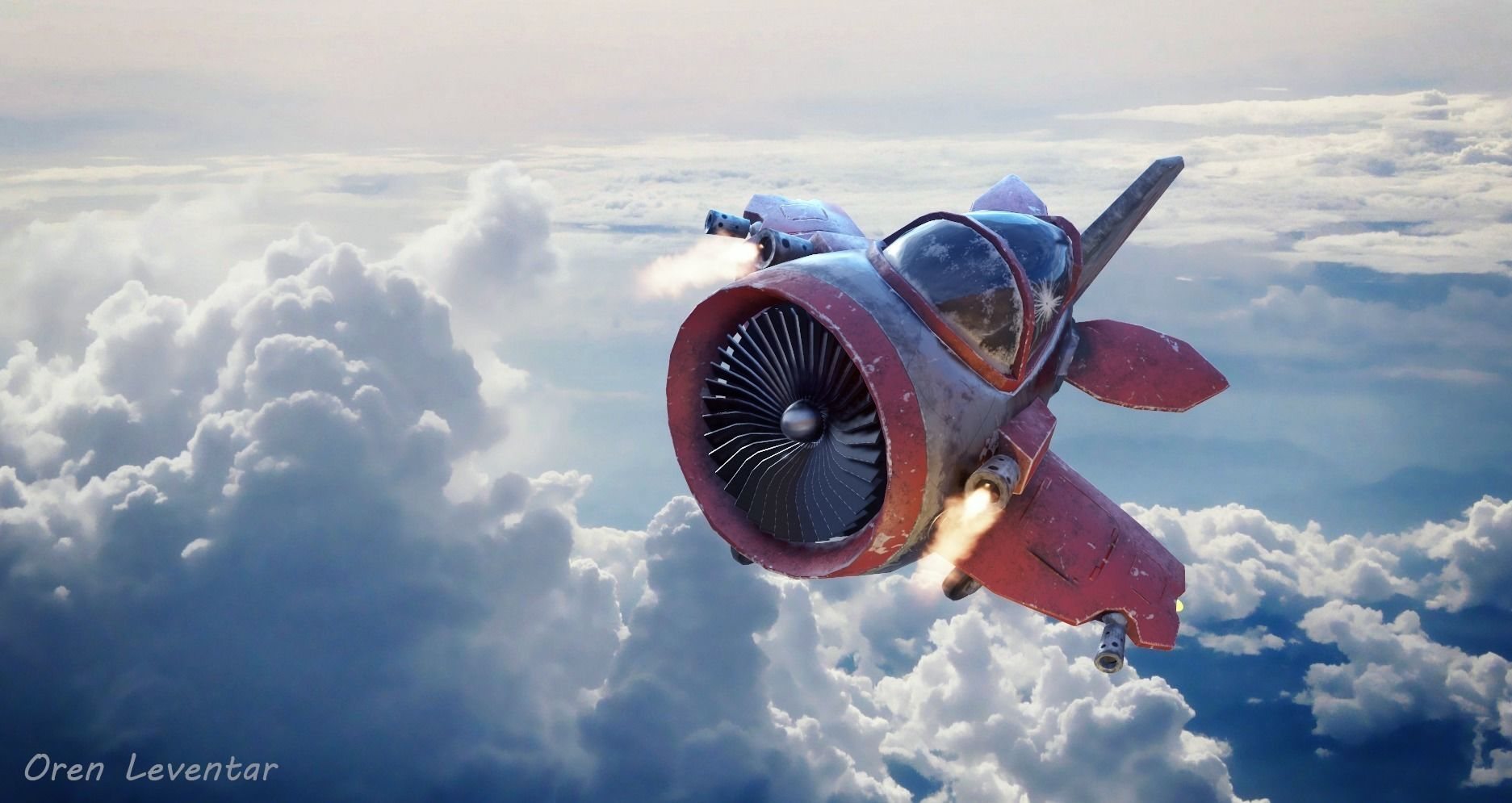 Stylized WAR PLANE for games and animation | 3D model