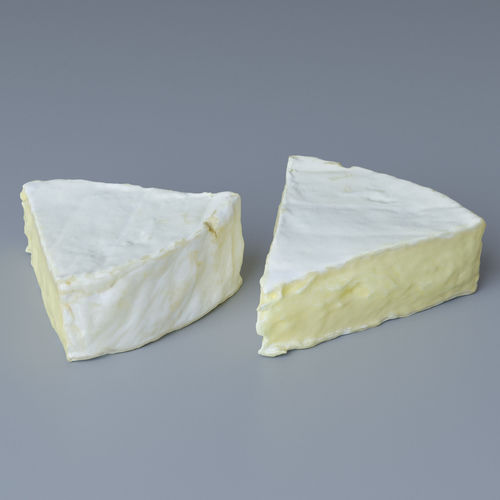 piece of brie cheese 3d model max obj 1