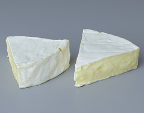 Piece of Brie Cheese 3D