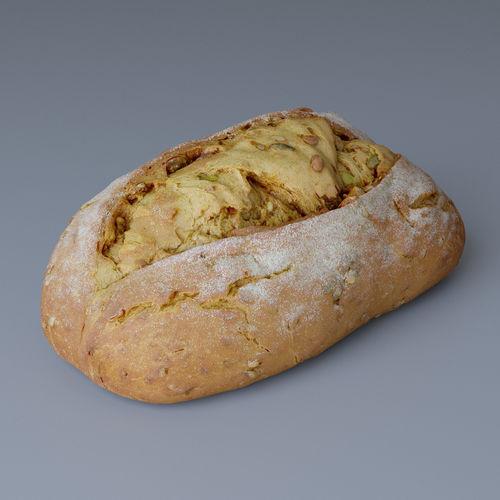bread 01 photoscan 3d model max obj 1