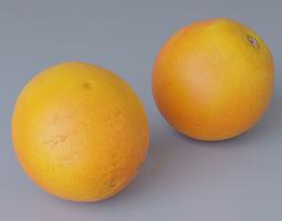 Orange Photoscan 3D model breakfast