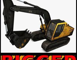 3D Excavator Rigged
