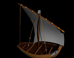 cargo boat 3D asset