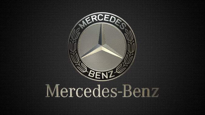 3d Model Avto Mercedes Benz Logo 3 Cgtrader