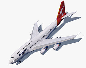 3D asset Boeing 747-8I Qantas The Spirit of Australia