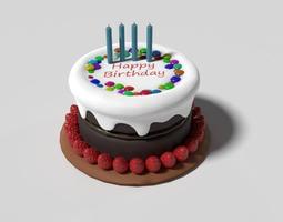 3D blender Birthday Cake