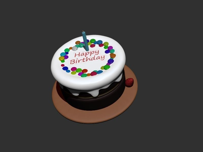 3d Blender Birthday Cake Cgtrader