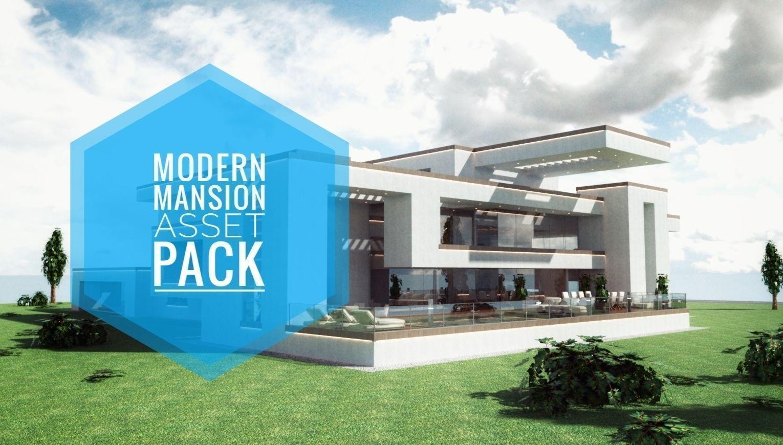 Modern Mansion Complete Modular Asset Kit