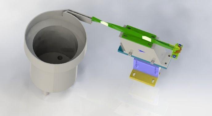 Rotating vibration loading mechanism