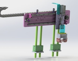 The adjustable clamping mechanism 3D