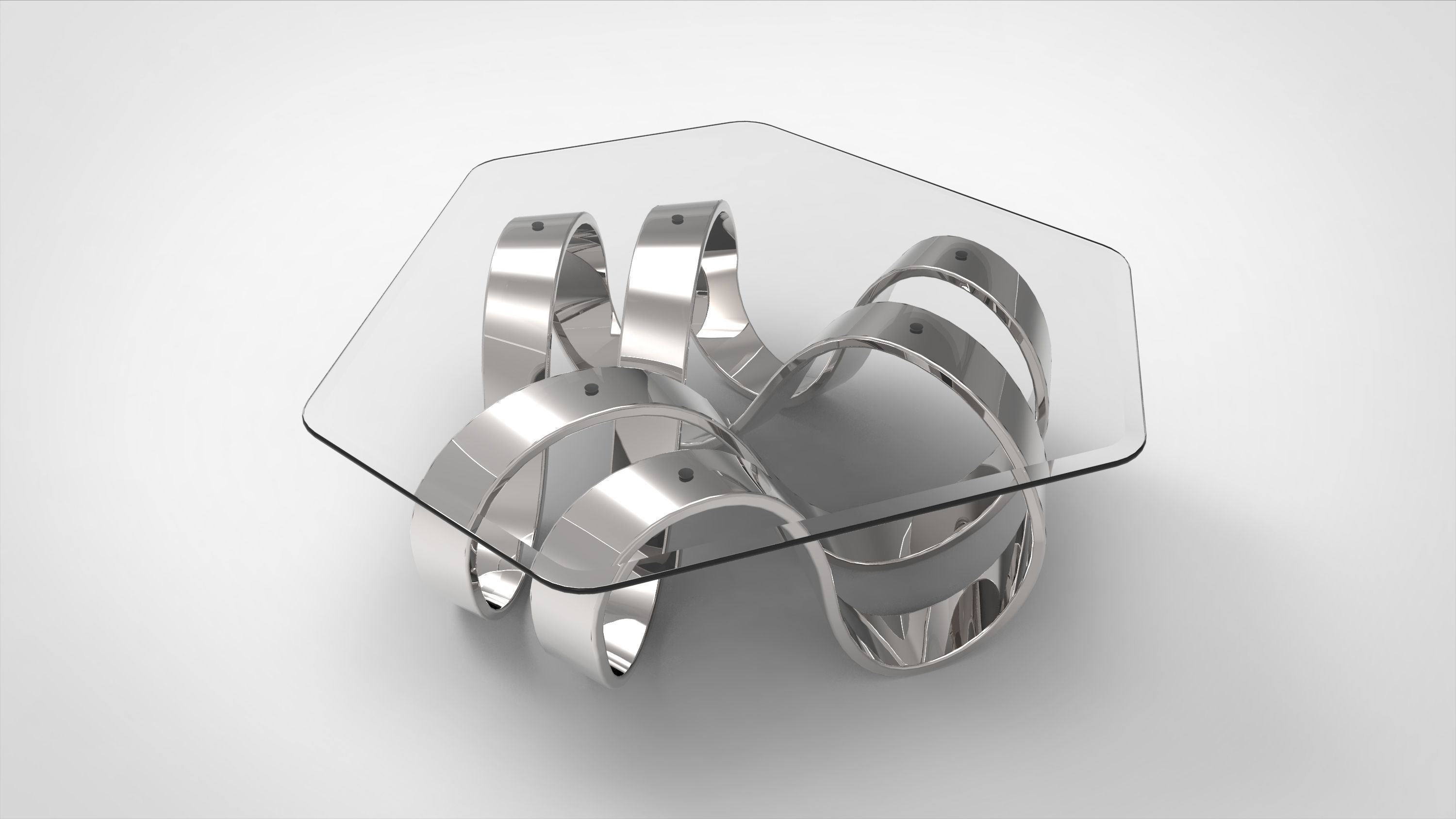 3D model Mobius Trefoil Knot Coffee Table II