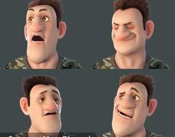 animaton 3D Cartoon Man Rigged