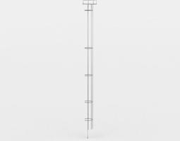 game-ready ladder 3d asset