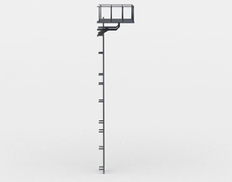 game-ready 3d model ladder