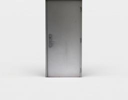 game-ready metal door 3d asset