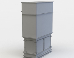 low-poly chest of drawers 3d model