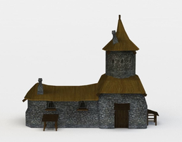 VR / AR ready 3d asset small castle