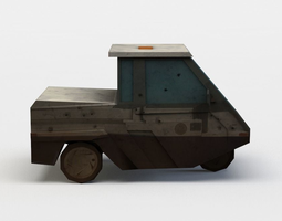 three wheeled vehicle 3d asset low-poly