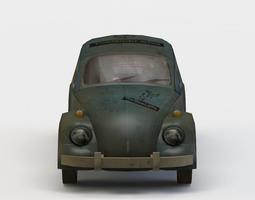 car bug low-poly 3d asset