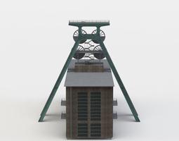 VR / AR ready shaft tower 3d model