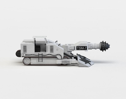 realtime triangulated machine 3d asset