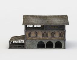 3d model tavern building VR / AR ready