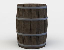 low-poly barrel 3d model