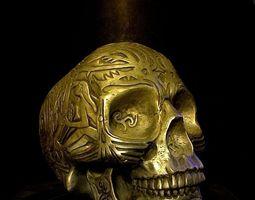 3D printable model Celtic skull