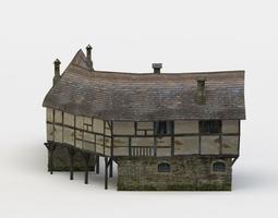 3d asset corner house game-ready